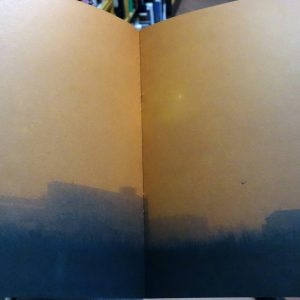 Interior view of Johnny Savage's book White Horses