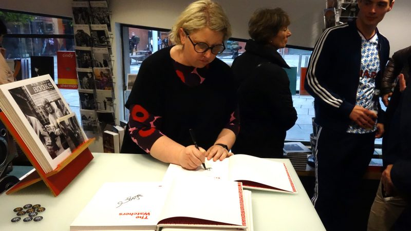 Haley Morris Cafiero signing copies of The Watchers, Dublin 2019