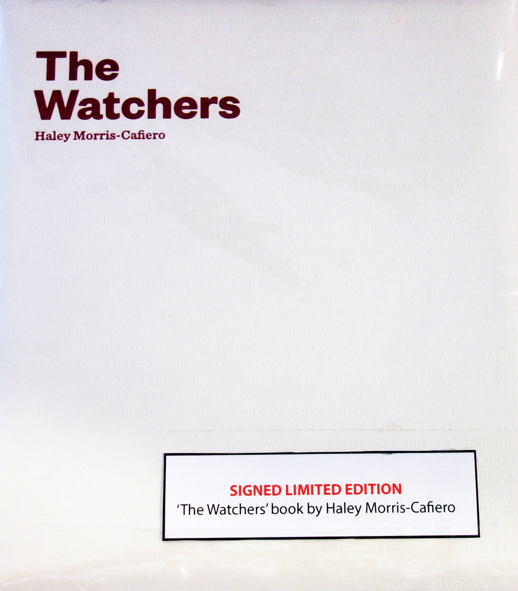 The Watchers by Haley Morris Cafiero, signed copies, Dublin 2019