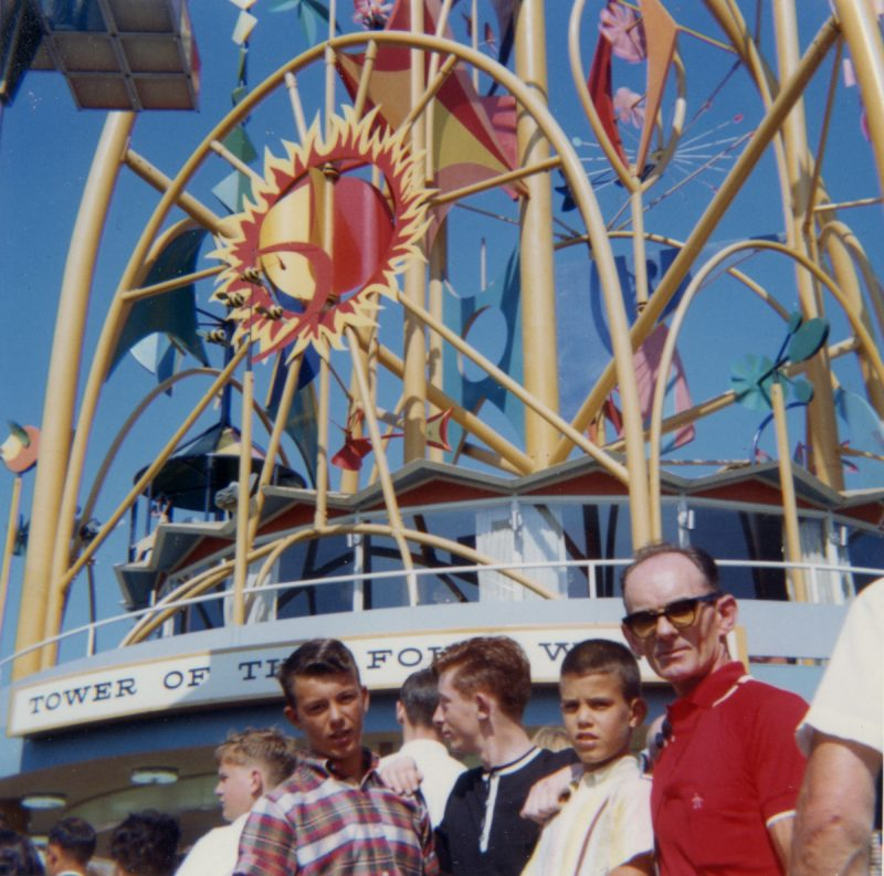 Gerry (middle) with the O'Bryens and his uncle Jack (right) at the New York World's Fair, 1964