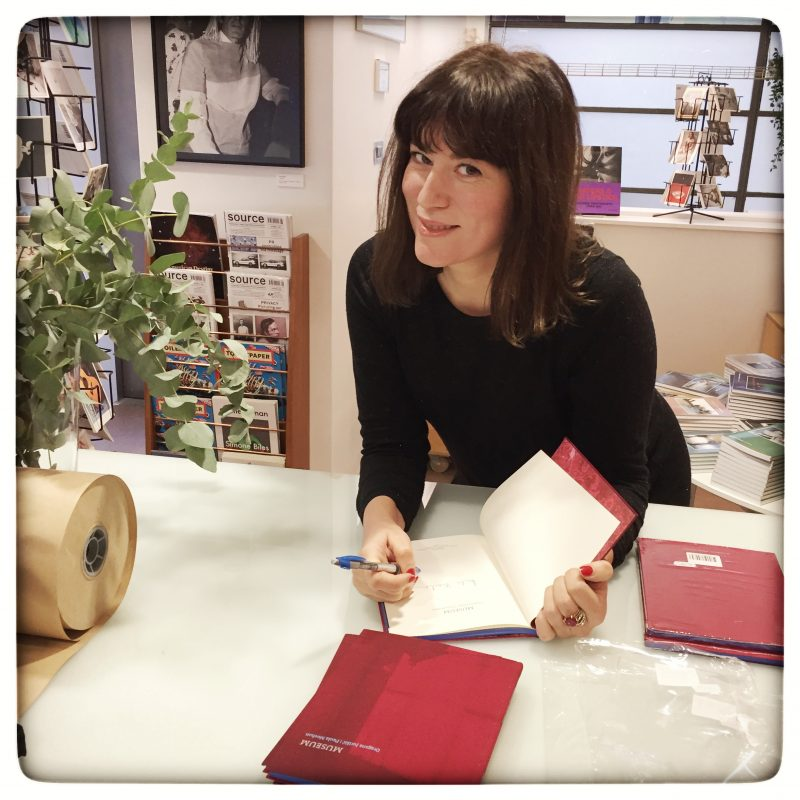 Artist Dragana Jurisic signing copies of MUSEUM in the Gallery of Photography Ireland